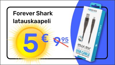 Forever Shark latauskaapelit